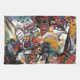 Kandinsky Moscow I Cityscape Abstract Painting Hand Towel