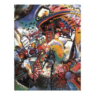 Kandinsky Moscow I Cityscape Abstract Painting Letterhead