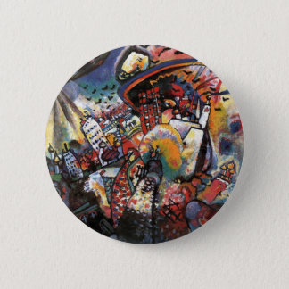 Kandinsky Moscow I Cityscape Abstract Painting Pinback Button