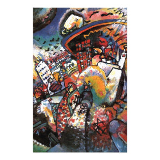 Kandinsky Moscow I Cityscape Abstract Painting Stationery