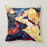 Kandinsky - Murnau with Rainbow, landscape art Throw Pillow