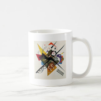 Kandinsky On White Two Abstract Painting Coffee Mug