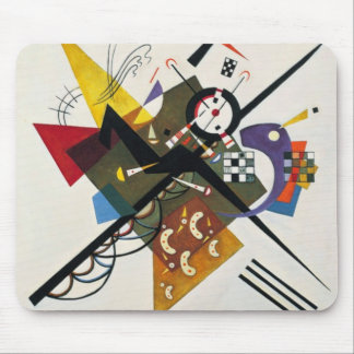 Kandinsky On White Two Abstract Painting Mouse Pad