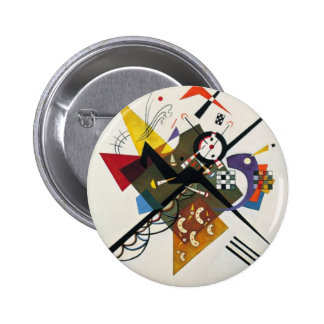 Kandinsky On White Two Abstract Painting Pinback Button