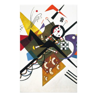 Kandinsky On White Two Abstract Painting Stationery