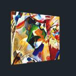 """Kandinsky - Painting with Green Center Canvas Print<br><div class=""""desc"""">Wassily Kandinsky artwork - Painting with Green Center canvas print.</div>"""