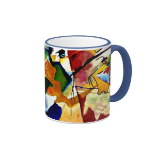 Kandinsky - Painting with Green Center Ringer Coffee Mug