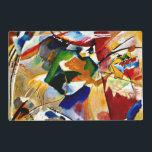 """Kandinsky - Painting with Green Center Placemat<br><div class=""""desc"""">Wassily Kandinsky artwork,  Painting with Green Center,  place mat.</div>"""