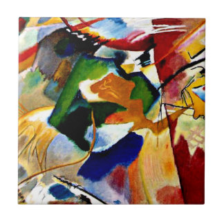 Kandinsky - Painting with Green Center Tile