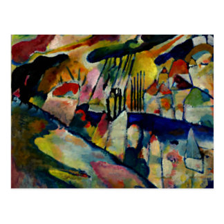 Kandinsky - paisaje con lluvia tarjetas postales