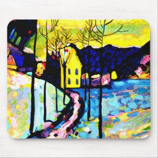 Kandinsky - paisaje del invierno alfombrilla de ratón