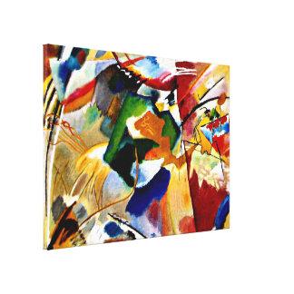 Kandinsky - pintura con el centro verde lienzo envuelto para galerias