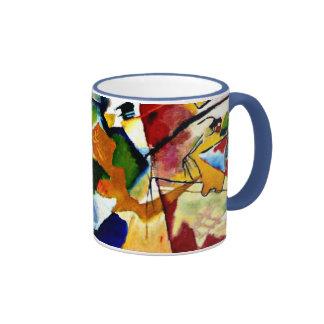 Kandinsky - pintura con el centro verde taza a dos colores