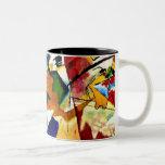 Kandinsky - pintura con el centro verde tazas