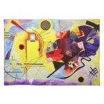 Kandinsky Placemat azul rojo amarillo Mantel