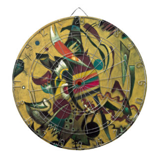 Kandinsky Points Abstract Canvas Painting Dart Boards