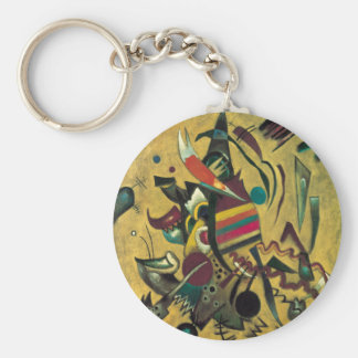 Kandinsky Points Abstract Canvas Painting Keychain
