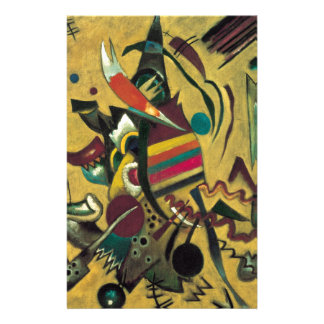 Kandinsky Points Abstract Canvas Painting Stationery