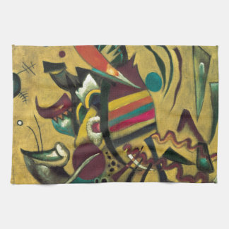 Kandinsky Points Abstract Canvas Painting Towel