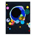 Kandinsky postal de varios círculos