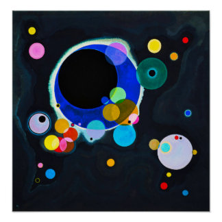 Kandinsky poster de varios círculos