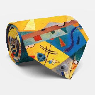 Kandinsky Quiet Harmony Yellow Abstract Art Neck Tie