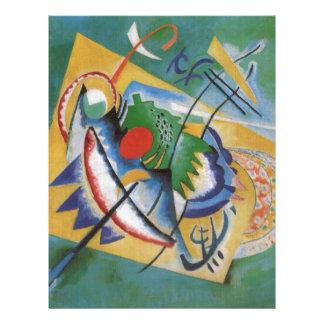 Kandinsky Red Oval Abstract Artwork Green Yellow Letterhead