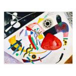 Kandinsky Red Spot Postcard