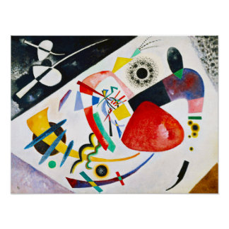 Kandinsky Red Spot Poster