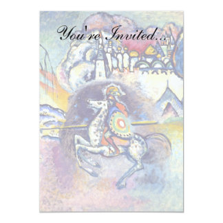 Kandinsky - Saint George and the Dragon 5x7 Paper Invitation Card