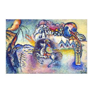 Kandinsky - San Jorge y el dragón Impresiones En Lienzo Estiradas