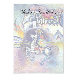 """Kandinsky - San Jorge y el dragón Invitación 5"""" X 7"""""""