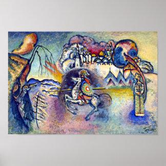 Kandinsky - San Jorge y el dragón Poster