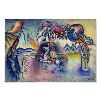 Kandinsky - San Jorge y el dragón Póster