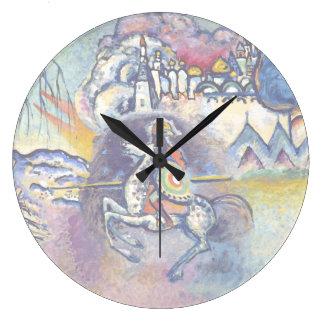 Kandinsky - San Jorge y el dragón Reloj Redondo Grande