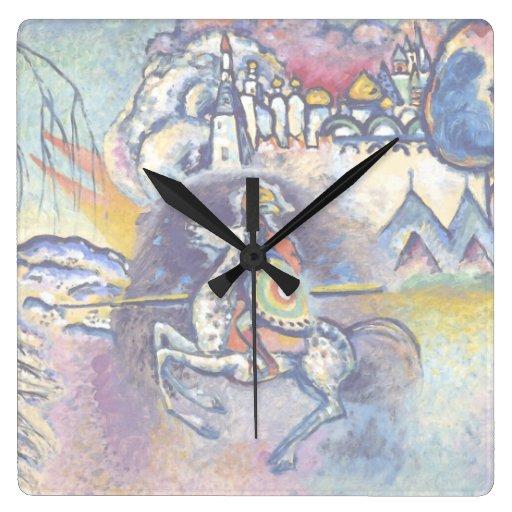 Kandinsky - San Jorge y el dragón Relojes De Pared