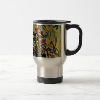 Kandinsky señala la pintura abstracta de la lona taza de viaje de acero inoxidable