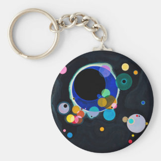 Kandinsky Several Circles Abstract Basic Round Button Keychain