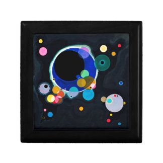 Kandinsky Several Circles Abstract Jewelry Box
