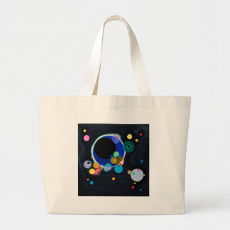 Kandinsky Several Circles Abstract Large Tote Bag