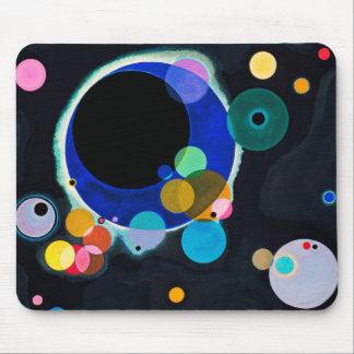 Kandinsky Several Circles Abstract Mouse Pad