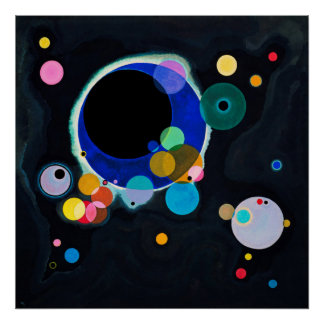 Kandinsky Several Circles Abstract Painting Poster