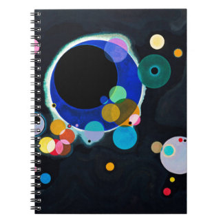 Kandinsky Several Circles Artwork Notebook
