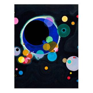 Kandinsky Several Circles Artwork Postcard