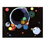 Kandinsky - Several Circles Postcard