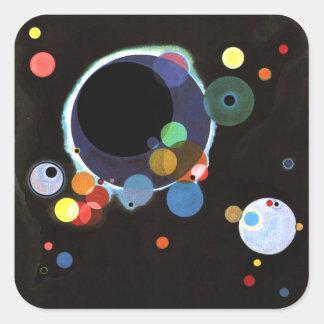 Kandinsky - Several Circles Square Sticker