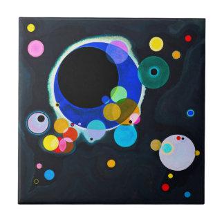 Kandinsky Several Circles Tile