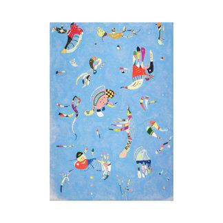 Kandinsky Sky Blue Canvas Print