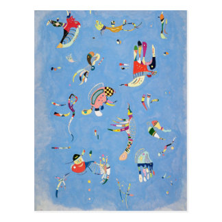 Kandinsky Sky Blue Postcard
