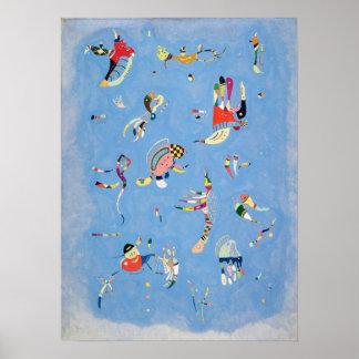 Kandinsky Sky Blue Poster